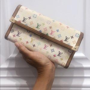 Authentic Louis Vuitton White Multicolor Wallet